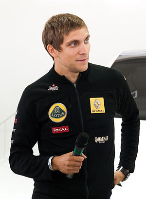 Vitaly Petrov - Petrov at the 2011 Goodwood Festival of Speed