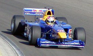Vitantonio Liuzzi - Liuzzi driving for the Red Bull Junior Team at the Hungary round of the 2003 International Formula 3000 season
