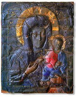 Blachernitissa Byzantine 7th-century encaustic icon representing Virgin Mary