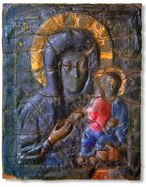 Siege of Constantinople (860) - The Blachernitissa: the icon before which Michael III may have prayed to the Theotokos for the deliverance of Constantinople from the Rus'.