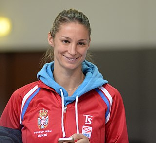 Vojislava Lukić Serbian tennis player