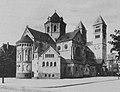 Vollendete Adolfus-Kirche an der Kaiserswerther Straße in Düsseldorf von der Fischerstraße aus gesehen. Erbaut ist die Kirche vom Kgl. Baurat Kaspar Pickel, Düsseldorf. (1914).jpg