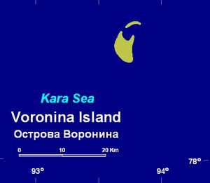 Voronina Island - Image: Voronina