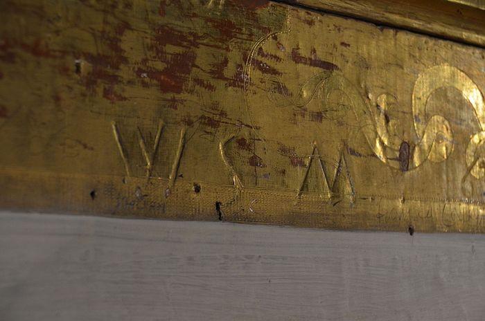 W.S.M. incisione delle iniziali di Mozart