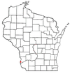Location of Prairie du Chien in Crawford County, ویسکانسین