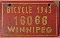 WINNIPEG MANITOBA 1943 -BICYCLE PLATE - Flickr - woody1778a.jpg