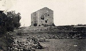 Nervesa della Battaglia - Image: WWI Nervesa Italian troops at 10am on 24th June 1918 near the train station