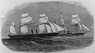 USS Wachusett (1861) - The capture as illustrated in Harper's Weekly.
