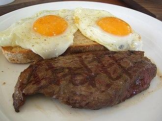 Steak and eggs - Steak and eggs
