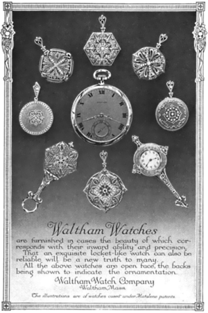 Waltham Watch Company - Magazine advertisement from 1913.