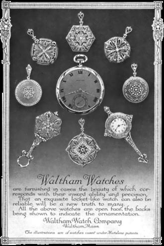 Waltham Watch Company - Magazine advertisement from 1913.