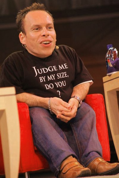 Warwick Davis, English actor, television presenter, writer, director, comedian, and producer