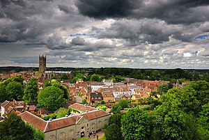 Warwick - Image: Warwick overview from the castle