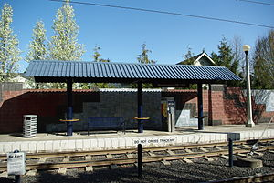Washington-Southeast 12th Avenue MAX station shelter - Hillsboro, Oregon.JPG