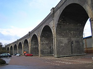 "Watford and Rickmansworth Railway - River Colne railway viaduct (the ""Bushey Arches"")"