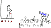 "An xkcd strip entitled ""Wikipedian Protester."""
