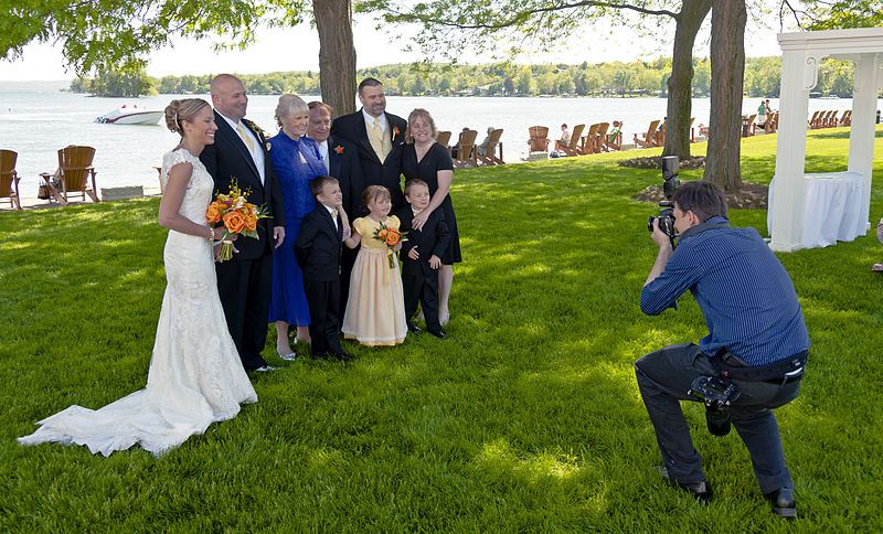 File:Wedding photographer at work.jpg