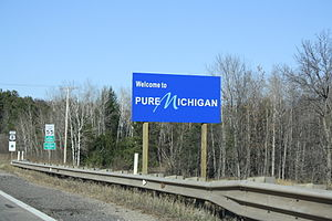 Michigan State Trunkline Highway System - Image: Welcome To Michigan Sign US8Nov 2009