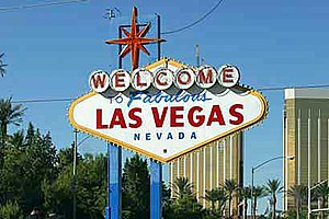 "Signage - The ""Welcome to Fabulous Las Vegas"" sign, just to the south of the Las Vegas Strip"