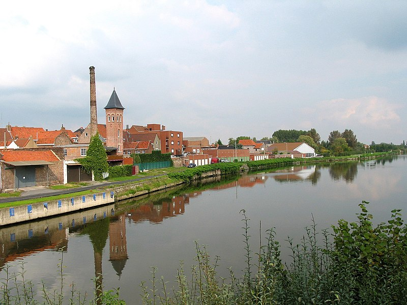 Wervik (Belgium), the Lys river.