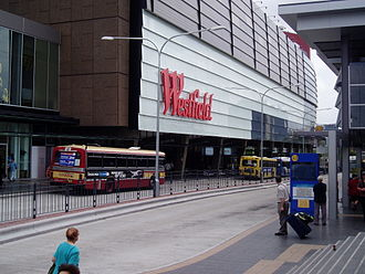 Westfield Parramatta - Westfield Parramatta, as seen from the bus stand at Parramatta railway station