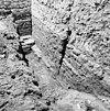 westmuur noord zijbeuk naar het zuiden (toren) opgraving fundering - batenburg - 20028300 - rce