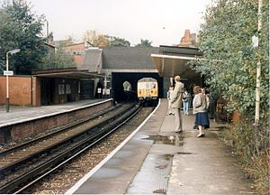 Whitefield tram stop - Whitefield railway station in 1988