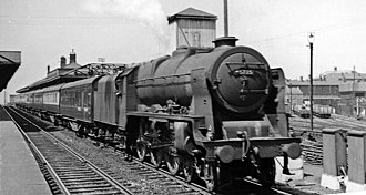 Wigan North Western railway station - View NW in 1957 on the West Coast Main Line