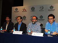 Wikimanía 2015 - Day 2 - Press Conference - LMM - México D.F. (2).jpg