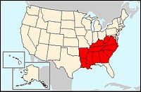 Wikivoyage US regions - The South states.jpg
