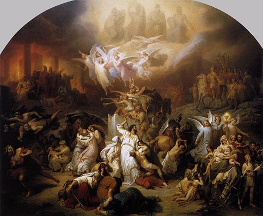 Wilhelm von Kaulbach - The Destruction of Jerusalem by Titus - WGA12102