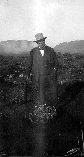 Boyce Thompson Arboretum State Park - William Boyce Thompson, circa 1928.