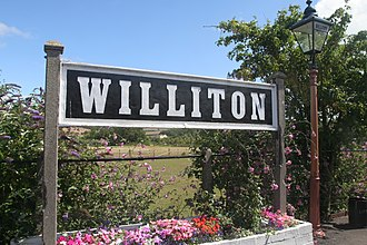 West Somerset Railway - Station sign at Williton