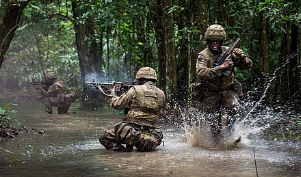 Irish Guards during a training exercise in Belize. Win the Firefight MOD 45162915.jpg