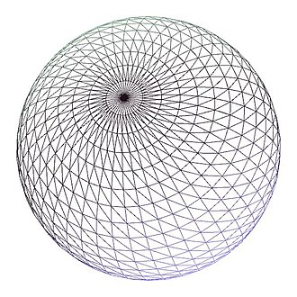 Level of detail - A finely tassellated wireframe sphere featuring over 5000 sample points.