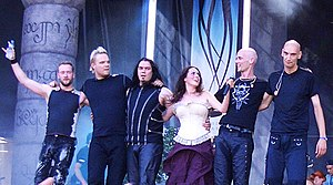 Within Temptation - The band presented at several big European festivals, which led the band to perform to great major audiences.