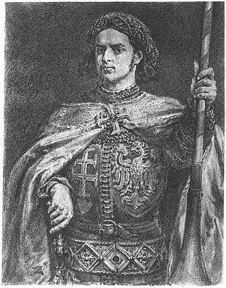 John Hunyadi - Vladislaus, King of Poland and Hungary (a portrait by Jan Matejko) whom Hunyadi supported in the civil war of 1440-1442
