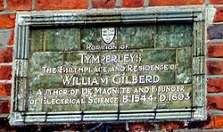 Photo of William Gilberd green plaque