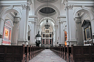 All Saints Church, Warsaw - Interior of the church today