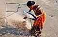Woman @ work, Uttan - Velankanni Beach.jpg