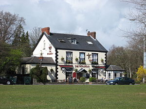 Blackpill - 'The Woodman' Public House at the entrance to Clyne Gardens