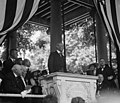 Woodrow Wilson speaks at the Old Amphitheater on Memorial Day - Arlington National Cemetery - Arlington County VA USA - 1917.jpg