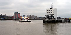 The ferry crossing the Thames