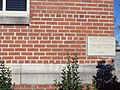 Works Projects Administration cornerstone on Baker County Courthouse, Macclenny.JPG