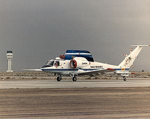 Sikorsky S-72 - Rotor Systems Research Aircraft / X-Wing aircraft during a 1987 high speed taxi test