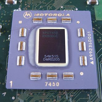 PowerPC G4 - An 800 MHz Motorola PowerPC 7450 on a Power Mac G4 CPU module