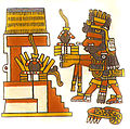 Xiuhtecuhtli, Codex Borgia, 14, w rubber balls offering.jpg