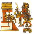 Xiuhtecuhtli, Codex Borgia, 14, w rubber balls offering.jpg
