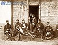 Yermakov. Georgian officers at Tsikhisdziri, Russo-Turkish war of 1877-1878.jpg
