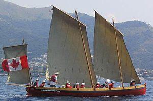 Lug sail - Image: Yole de Bantry 2